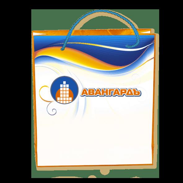 Пакеты с нанесением логотипа компании вариант №7