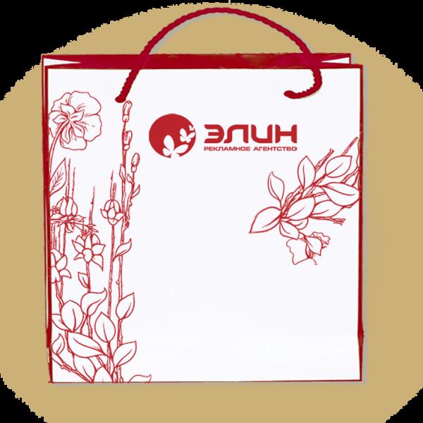 Пакеты с нанесением логотипа компании вариант №15