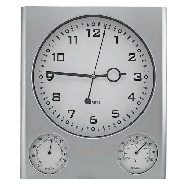 Часы настенные с термометром и гигрометром с логотипом