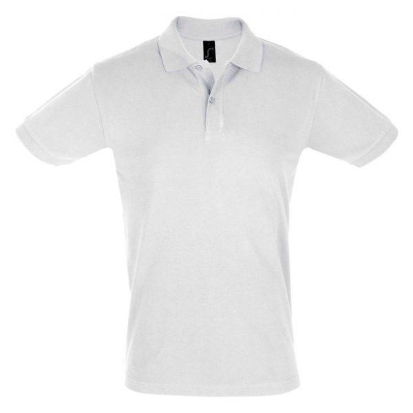 Поло мужское Perfect Men белое с логотипом