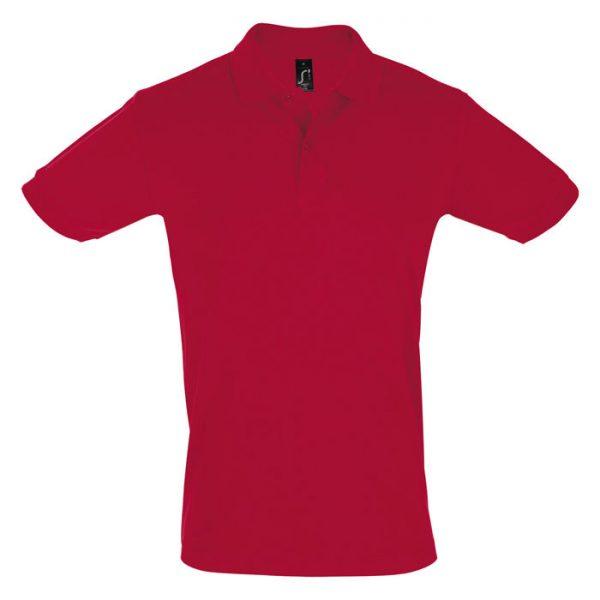 Поло мужское Perfect Men красное с логотипом