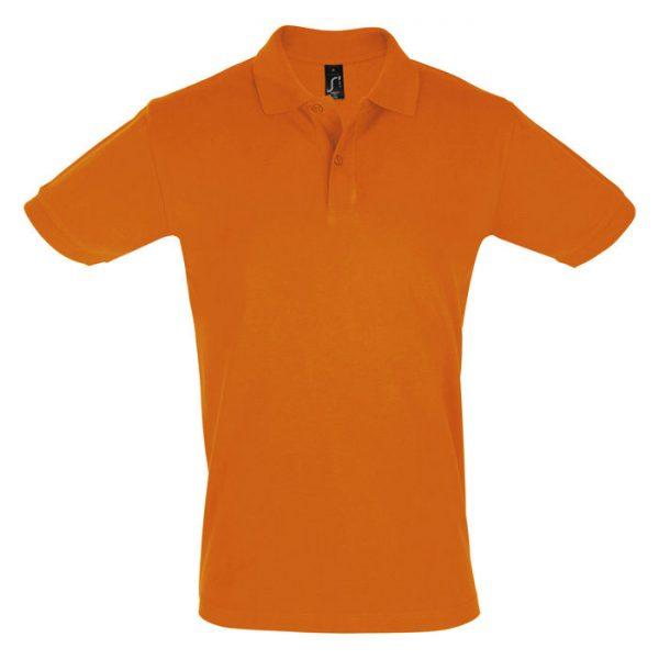 Поло мужское Perfect Men оранжевое с логотипом