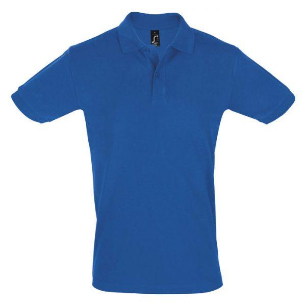 Поло мужское Perfect Men синее с логотипом