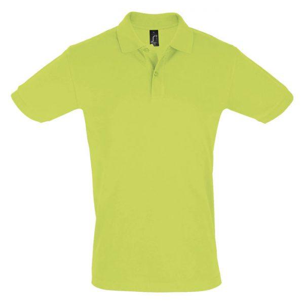 Поло мужское Perfect Men светло-зеленое с логотипом