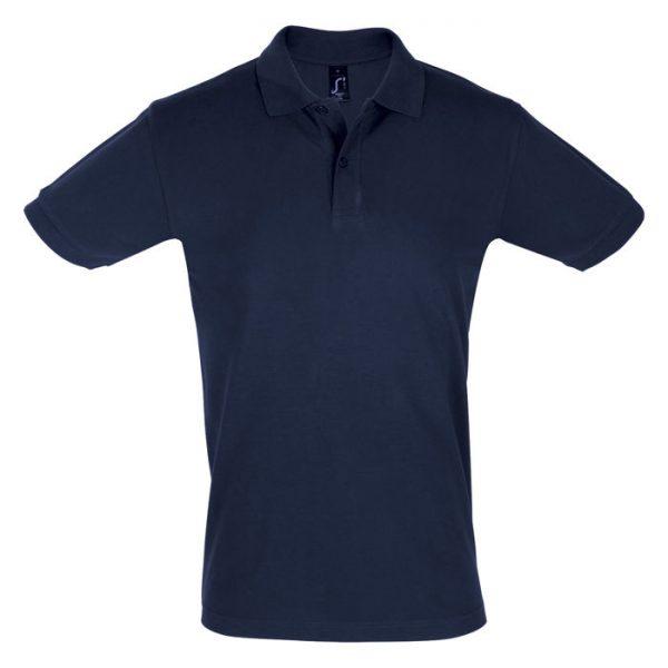 Поло мужское Perfect Men темно-синее с логотипом