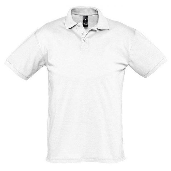 Поло мужское Season белое с логотипом