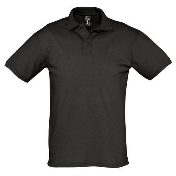 Поло мужское Season черноре с логотипом