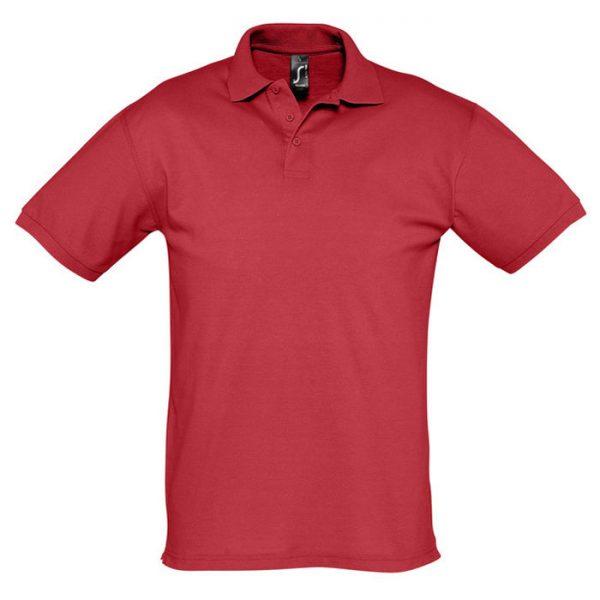Поло мужское Season красное с логотипом