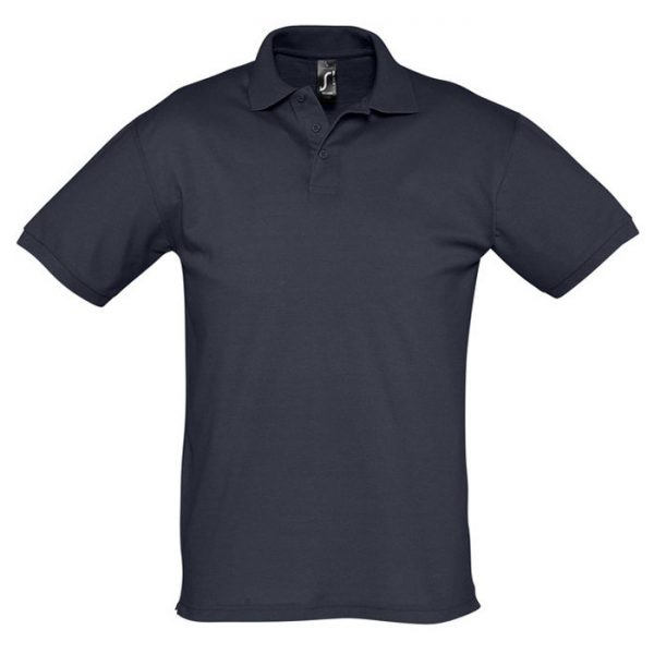 Поло мужское Season темно-синее с логотипом