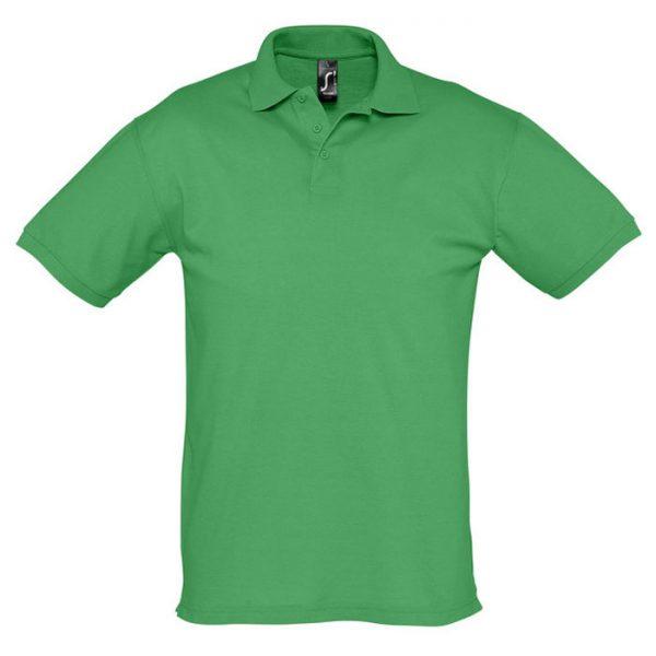 Поло мужское Season зеленое с логотипом