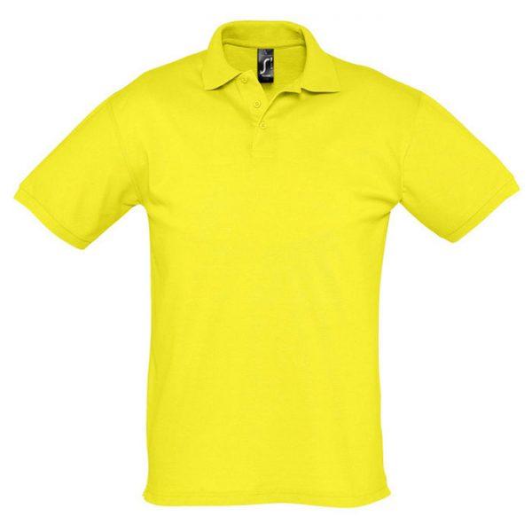 Поло мужское Season желтое с логотипом