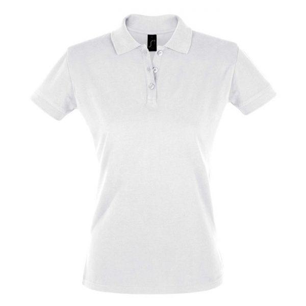 Поло женское Perfect Women белое с логотипом