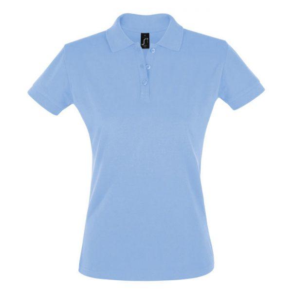 Поло женское Perfect Women голубое с логотипом