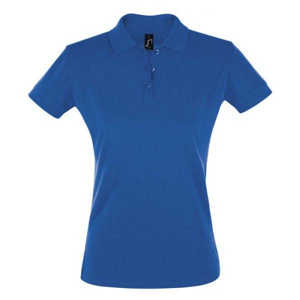 Поло женское Perfect Women синее с логотипом