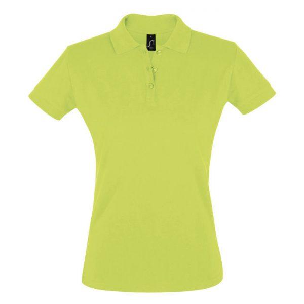 Поло женское Perfect Women зеленое с логотипом