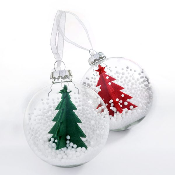 Шар новогодний Ель с нанесением логотипа набор