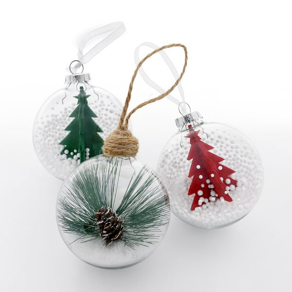 Шар новогодний Twiggy с нанесением логотипа набор