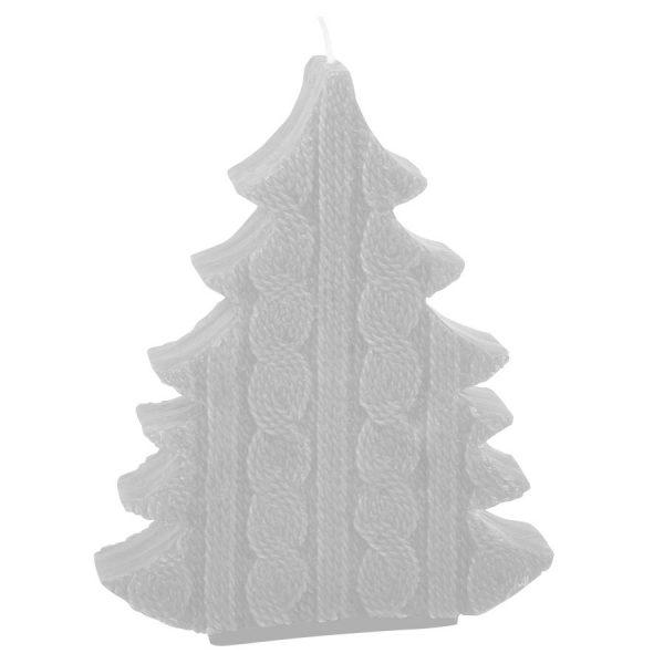 Свеча подарочная ЕЛКА белая с нанесением логотипа