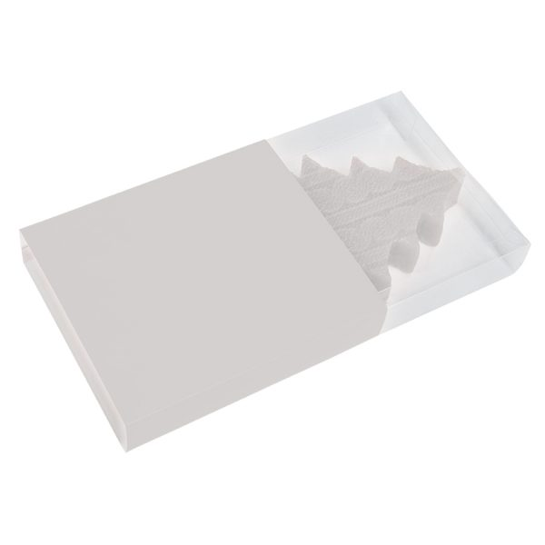 Свеча подарочная ЕЛКА белая с нанесением логотипа упаковка