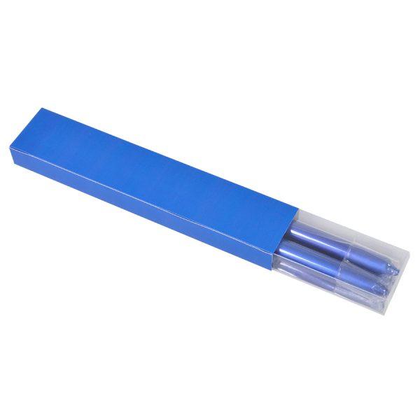 Свечи подарочные ВЕЧЕР синий с нанесением логотипа упаковка