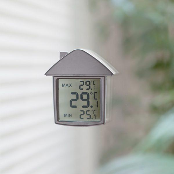 Термометр на присоске Дом с логотипом пример 1
