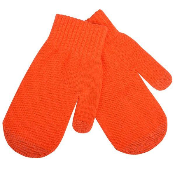 Варежки сенсорные In touch оранжевые с нанесением логотипа