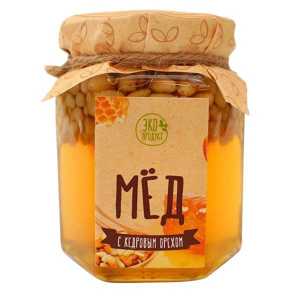 Набор Кедровый бутылка кедровый мед с логотипом